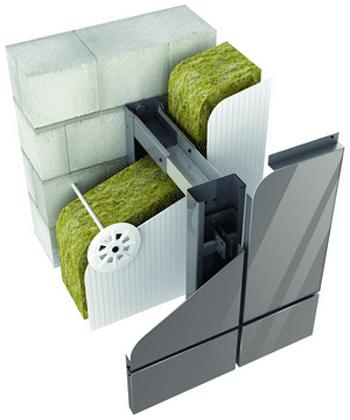 Утеплювачі для вентильованих фасадів фото