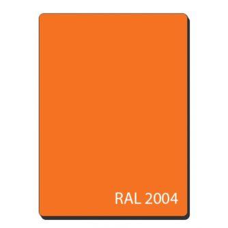 Алюмінієві композитні панелі однотонний помаранчевий RAL 2004