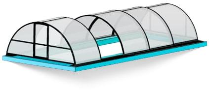 Арочный павильон для бассейна фото
