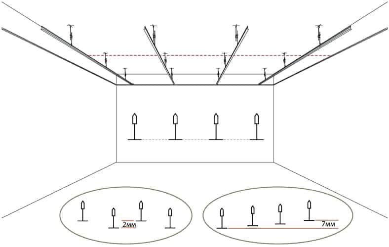 Проверка монтажа подвесного потолка Армстронг фото 3